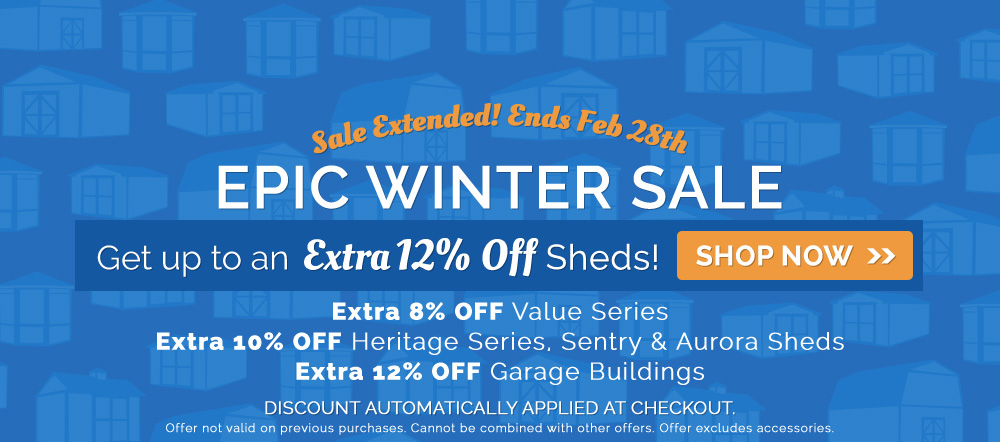 Epic Winter Sale on Sheds
