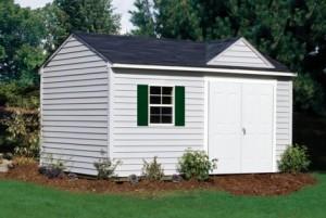 vinyl garden shed