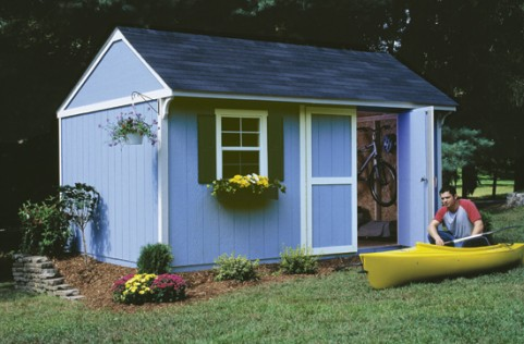 free garden shed designs add a flower box shutters - Shed Ideas Designs