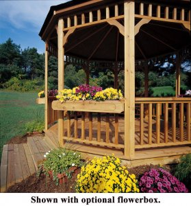 gazebo with flower box