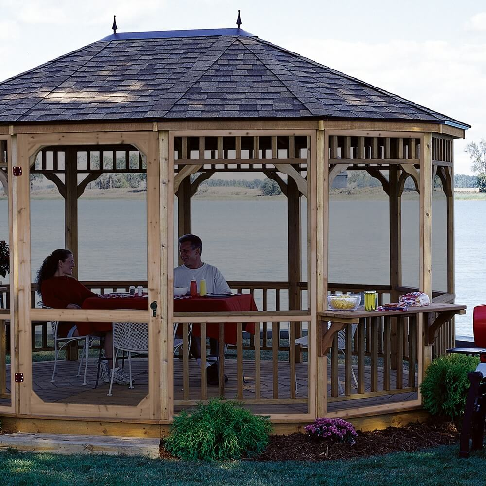Deck Stairs Design Ideas furthermore Gazebo Designs moreover Shade Solutions Outdoor Rooms additionally Sheds Poolhouses further Gazebo Design Ideas By Archadeck. on wood two story decks with gazebo