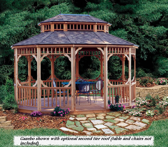 History of gazebos as used in gardens and backyards across for Built in gazebo