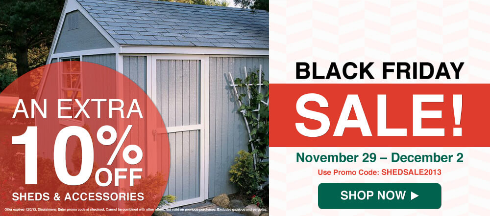 black friday sale sheds