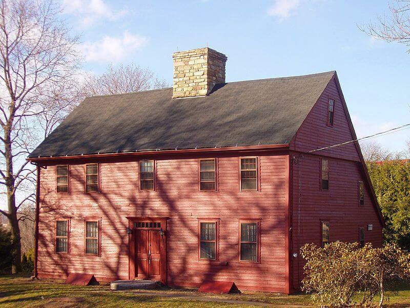 Old Saltbox Style Buildings