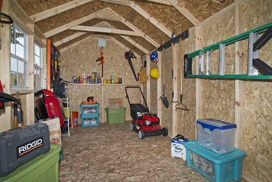 outdoor storage shed for winter