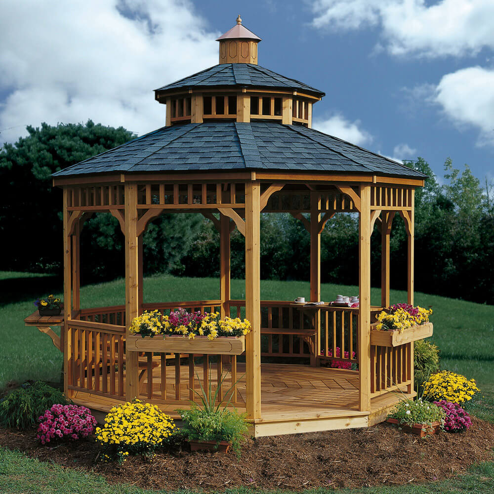 Tips to make a gazebo the perfect setting for a winter wedding for Outside garden ideas design