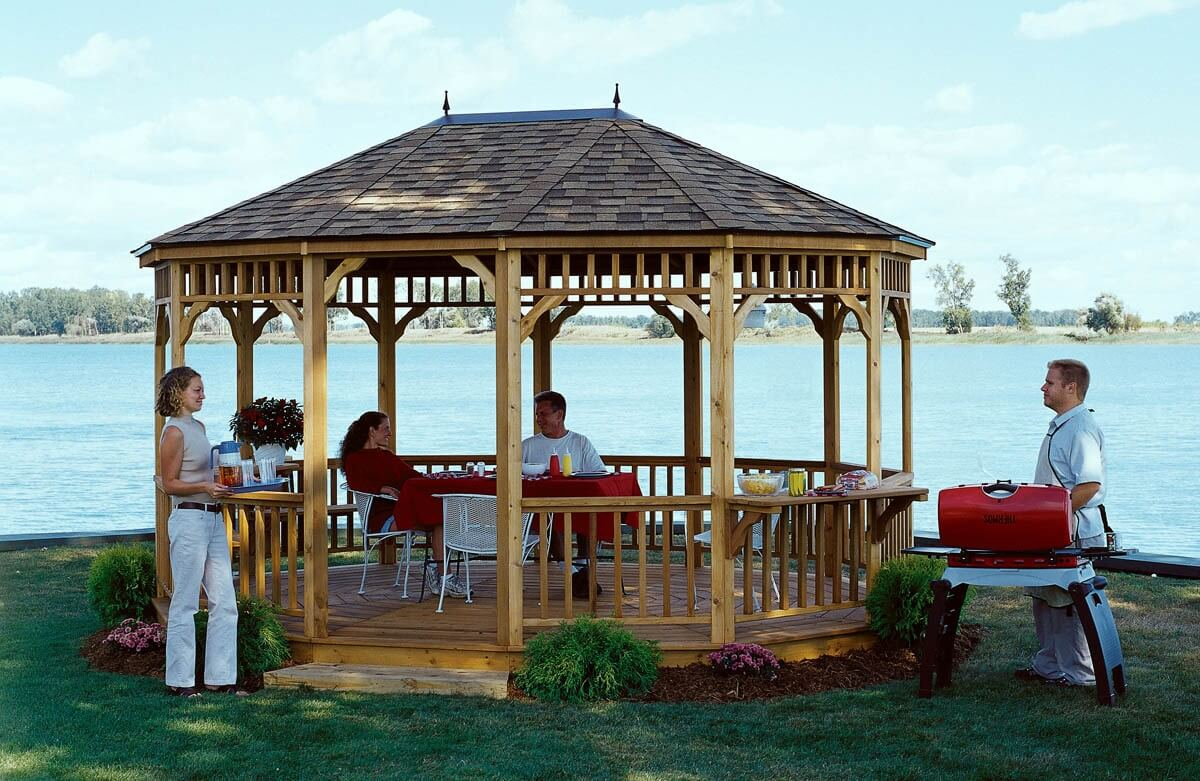 backyard gazebo bbq