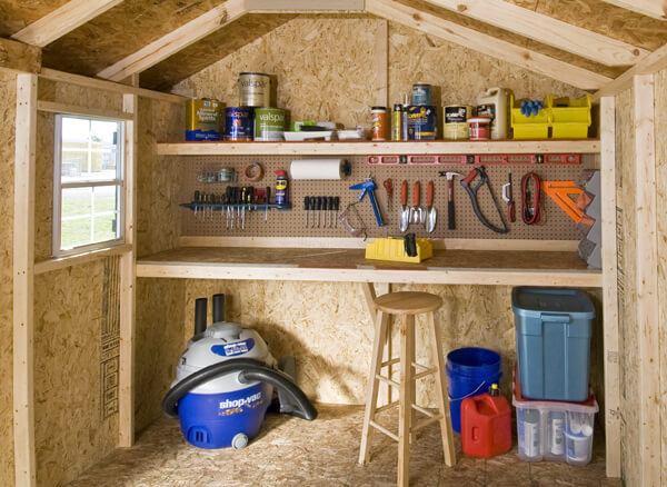 attic rehab ideas - 10 Ways to Turn Your Shed into the Perfect Workshop