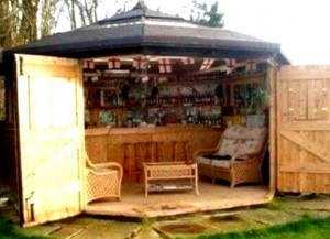 Backyard Bar Shed Ideas | Build a Bar Right in Your Backyard ...