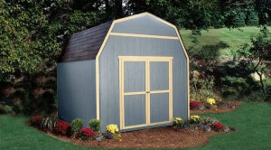 10x10 Verona model shed in a backyard
