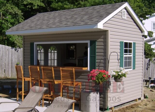 Backyard bar shed ideas for Home bar kits and plans