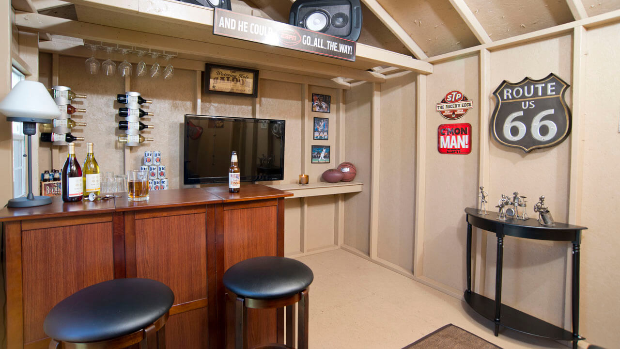Used Man Cave Bar : Backyard bar shed ideas build a right in your