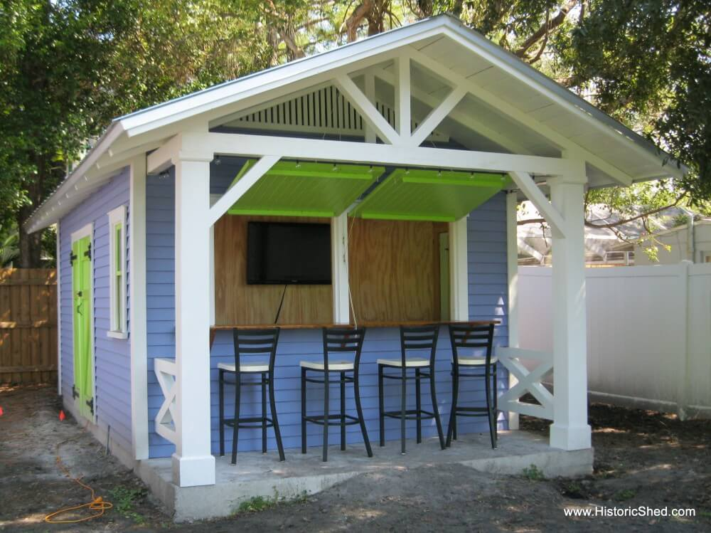 Backyard bar shed ideas build a bar right in your for Shed into pool house