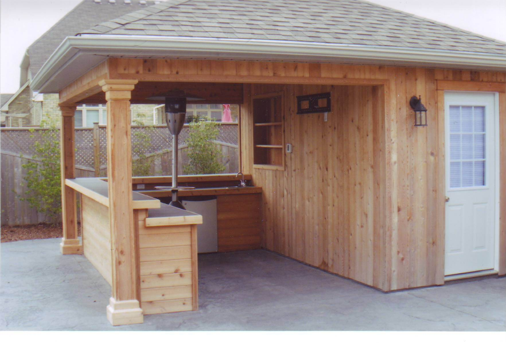 Backyard bar shed ideas build a bar right in your for Backyard garages