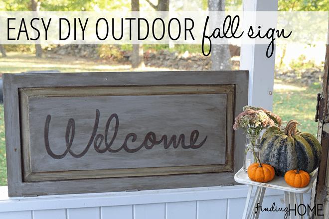 easy diy outdoor fall signs