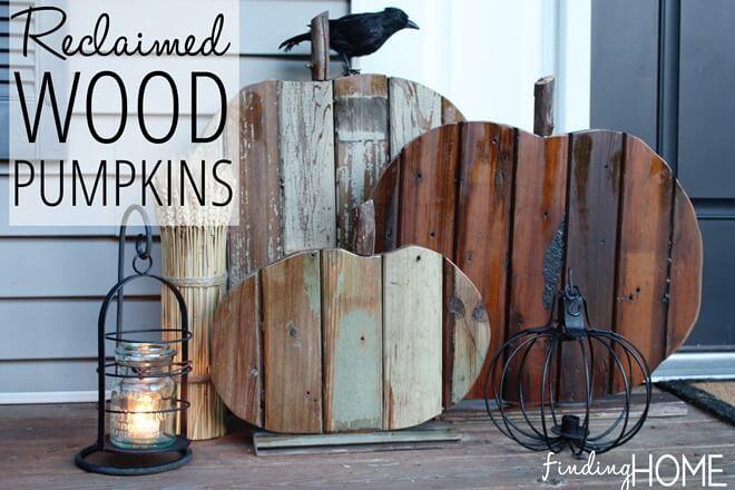 reused wood pumpkins for crafty people