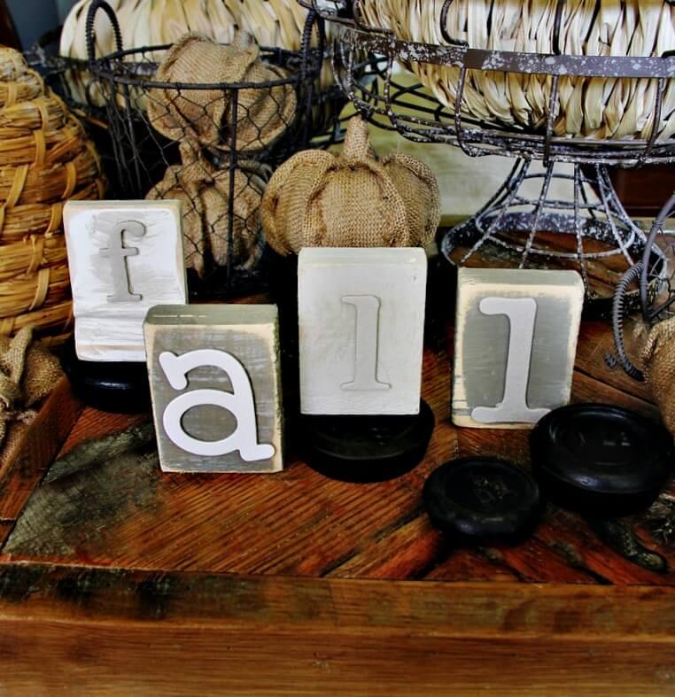 diy fall wood block letters