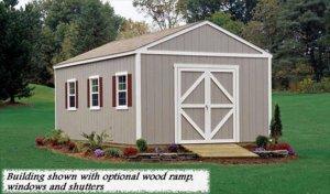 12x12 Arlington model shed