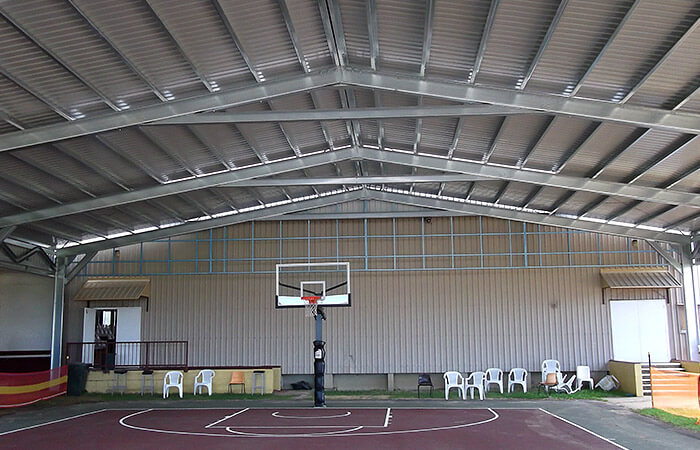 Re imagine your backyard with 17 innovative uses for sheds for How much to build a basketball court