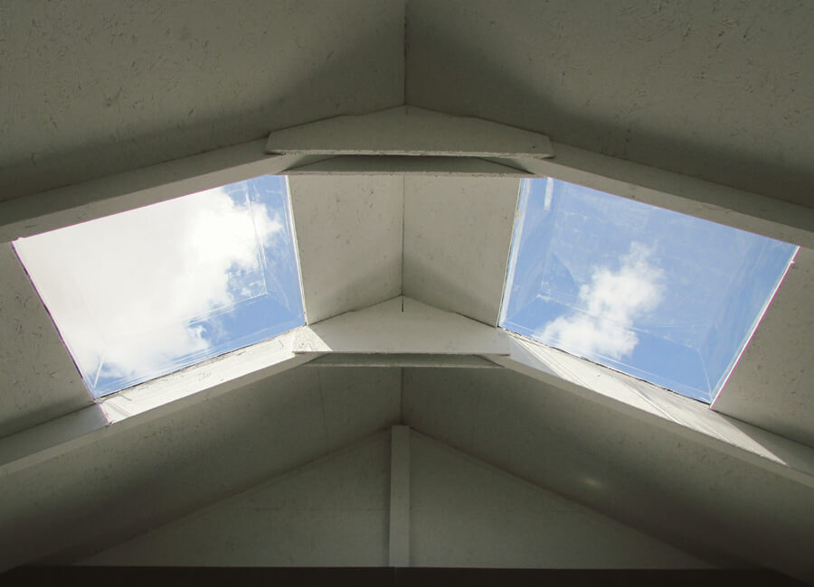 installer adding skylights