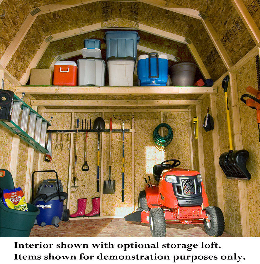Shed interior organizing ideas joy studio design gallery for Shed interior ideas