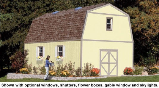 16x16 Two Story Shed With Stairs Unlimited Storage Potential
