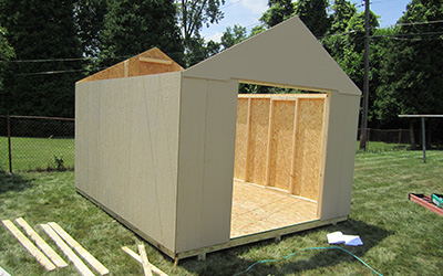 Step 6 - Shed Walls Installed