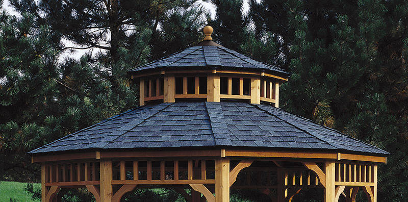 2-tier Roof for 10' x 14' Oval