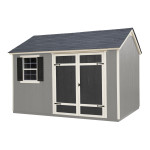 This trendy shed would make the perfect workshop, hobby room or yoga studio.