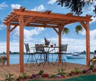 The Avalon Pergola provides the perfect amount of sunshine and shade.