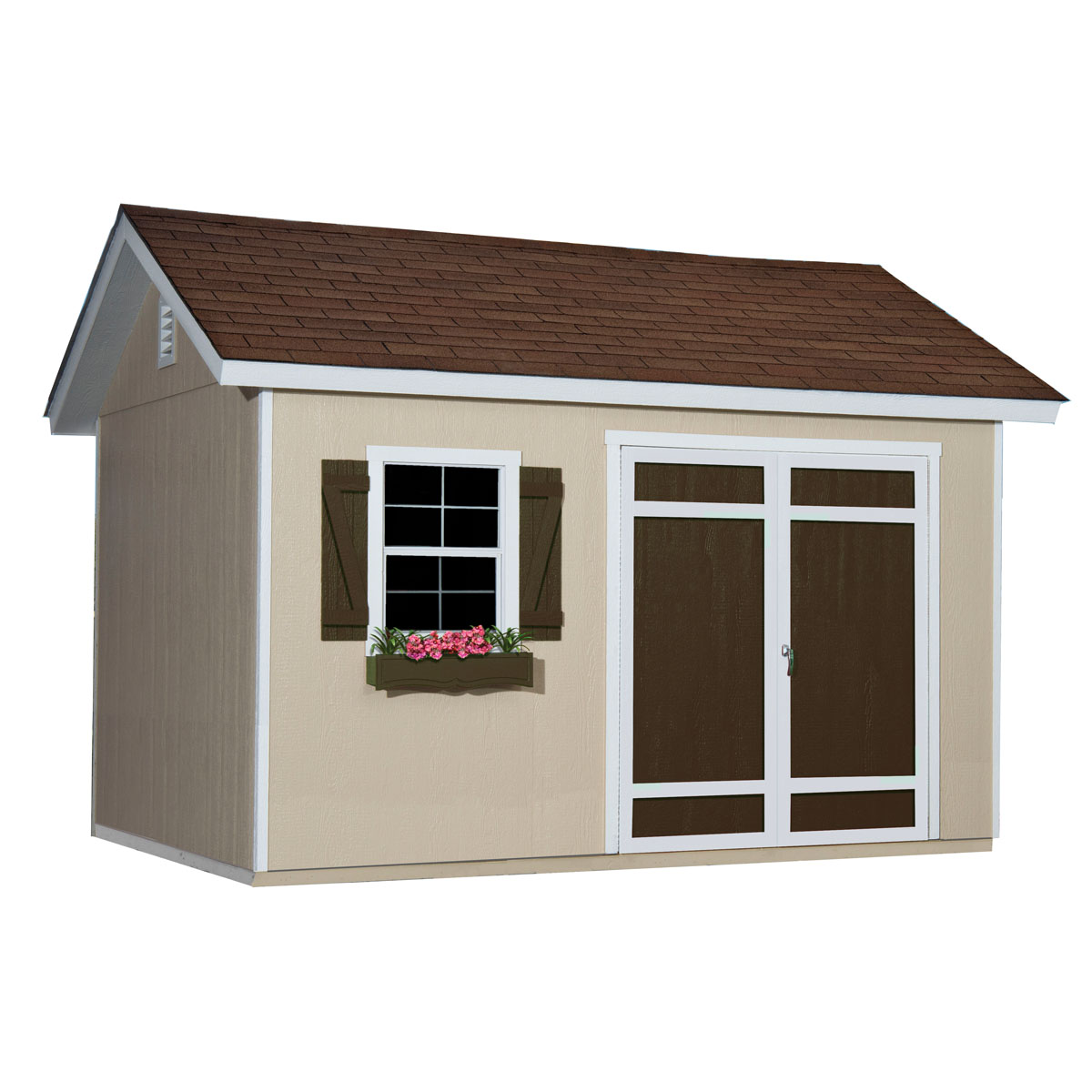 7ft. tall side walls provide &le vertical storage space for rakes shovels wheelbarrows  sc 1 st  Backyard Buildings & Garden Shed for Tool Storage u0026 More | 12x10 Glendale
