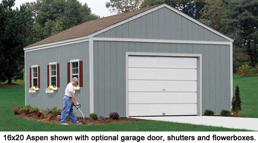 16x24 Shed With Contemporary Styling 16x24 Aspen