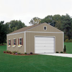 The Aspen shed is built on site, is fully primed and ready to paint in the color of your choice. (paint not included) 16x16' Aspen shown with gable window, garage door, optional windows, shutters and flowerboxes.