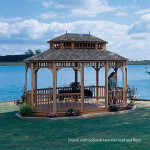 Customize your Coronado gazebo with cupolas, benches and flower boxes to add even more sophistication.