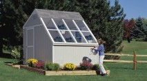 Greenhouse and storage shed in one.