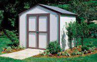 The 8 ft. wide gable-design features 6 ft. high sidewalls and a 8 ft. high peak.