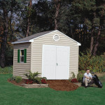 The Sentry gives you the freedom to live the lifestyle you want want - without worrying about maintenance. 10'x8' Sentry shown with optional window, vent and shutters. Doors shown on gable side.