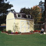 Transform your yard with the Hartford shed; giving yourself a pool-side bungalow, a customized home office or backyard study. Shown with optional dormers.