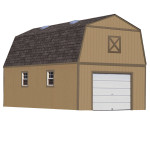 Add your choice of windows, gables, cupolas, and window boxes, and make your shed even more convenient with ramps, shelving, workbenches, or wall racks. (16'x24' size shown) Shown with optional windows, skylights and garage door.