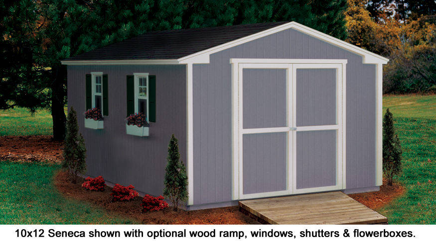 10x12 shed seneca value series gable sheds for 10 x 8 garage door price