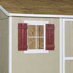 Includes window and shutters to make your shed feel like home.