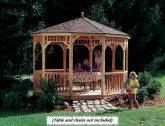 12' round gazebo shown with optional heavy duty floor.
