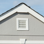 Deluxe gable vent promotes air circulation and reduces heat.