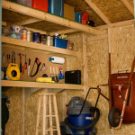 Includes a storage loft, workbench and shelf for added functionality.