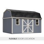 Flexible design allows you to place the doors on the gable side or eave.