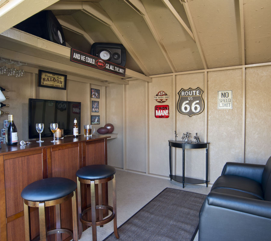Shed Into Man Cave : Man cave shed for the everyman designs plans ideas