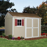 56in. double door opening conveniently accommodates lawn mowers, wheelbarrows, bicycles and more.