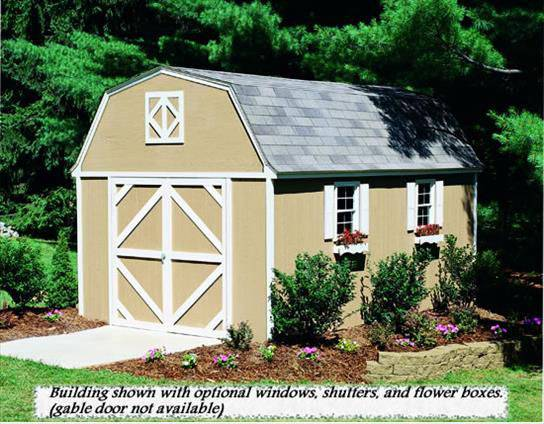 10x16 storage shed hartford heritage series gambrel shed for Gambrel gable