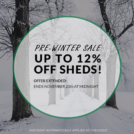 pre winter shed sale