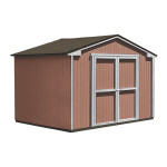10ft. W Seneca sheds feature a wide 64in. door opening for an easy way in & out. Image shown: 10'x12' Seneca.